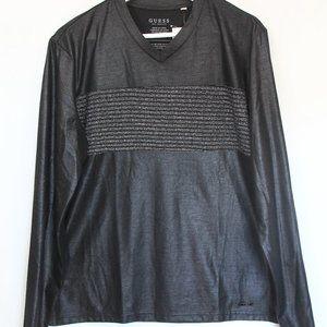 Guess Mens Long Sleeve T Shirt Small New Black